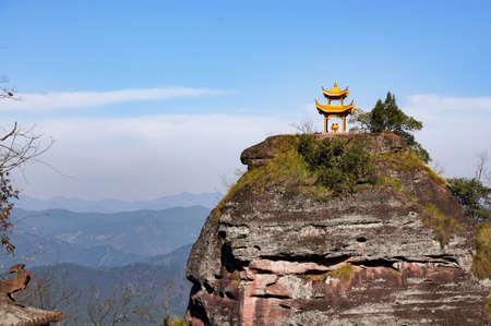 Incense: incense burner on mountain peak