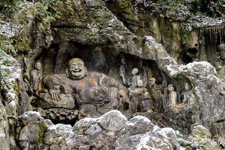 potbellied: Lingyin Temple in Hangzhou, the pot-bellied Maitreya Statue