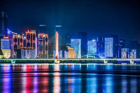 xing: Hangzhou qianjiang new city night scene