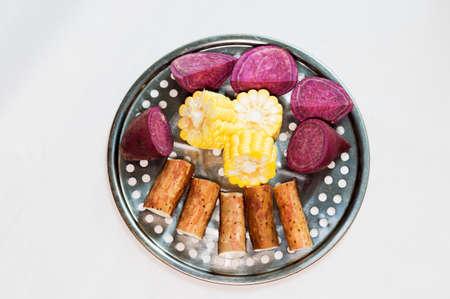 chinese yam: Corn, yam, purple sweet potato