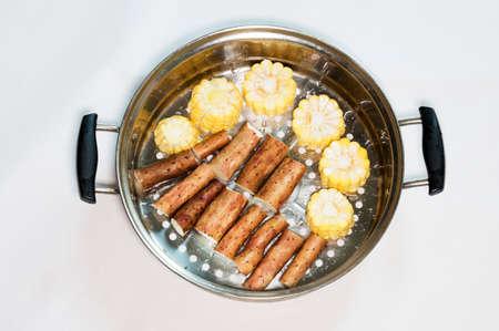 chinese yam: Yam, corn Stock Photo