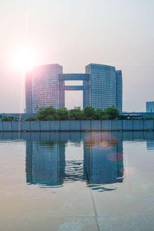 civic center: Hangzhou Qianjiang Civic Center