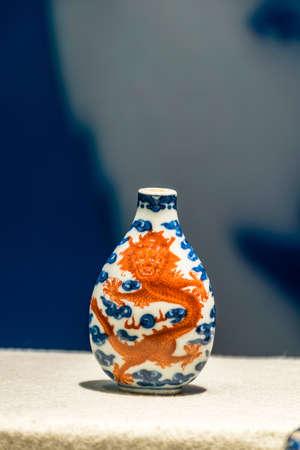 tabaco: botella de tabaco de la porcelana