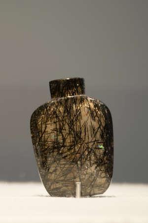 tabaco: botella de cristal de tabaco