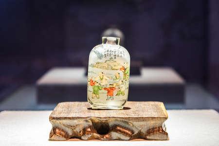 tabaco: Ye Zhongsan painted glass snuff bottle