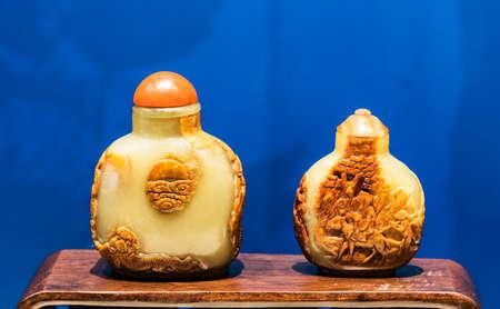 tabaco: botella de tabaco de jade