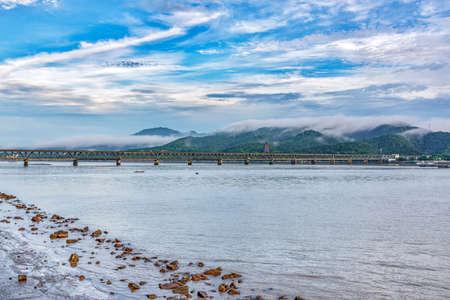 Qian Tang River Bridge scenery