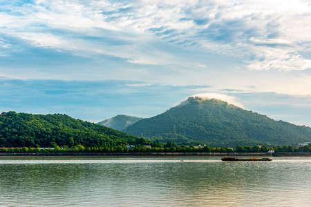 Qian Tang River scenery Stock Photo