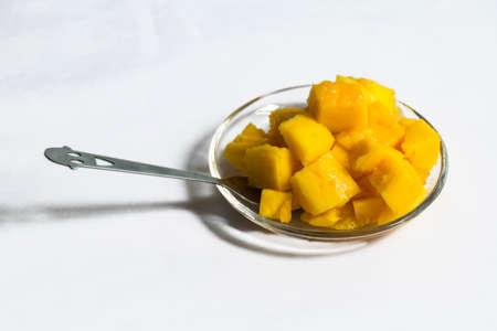 Mango meat Stock Photo