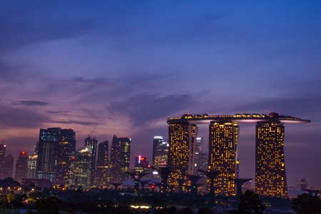 Marina bay sand sunset  photo
