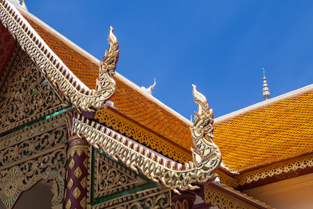buddhist temple roof: closeup of a temple roof, sutieshan, Chiang Mai