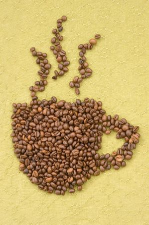 caf: coffee beans