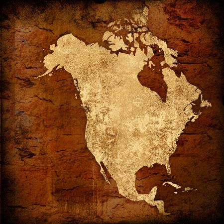 aged America map-vintage artwork photo