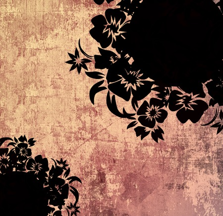 grime: floral style backgrounds frame Stock Photo