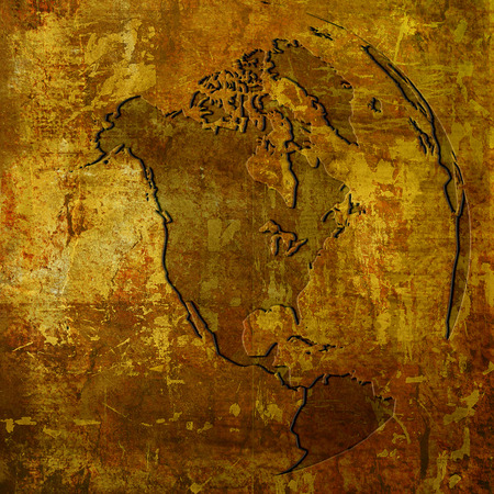 aged America map-vintage artwork Stock Photo - 1574360
