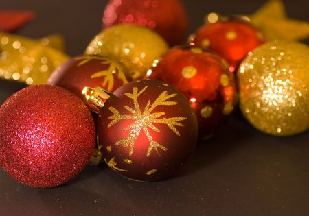 agleam: agleam bolas de adornos de Navidad  Foto de archivo