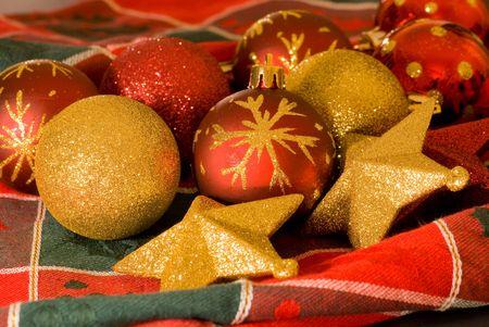 agleam christmas balls ornaments Stock Photo - 2259985