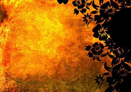 floral style backgrounds frame Stock Photo