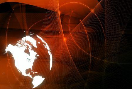 America map technology-style artwork photo