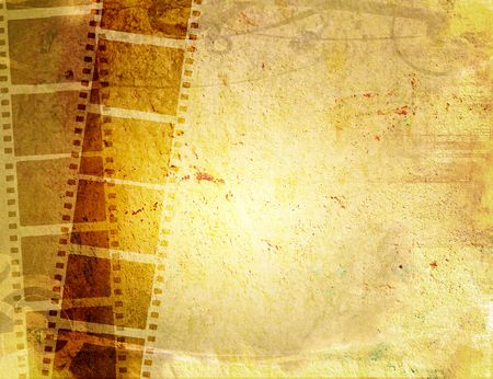 old film: Great film strip for textures and backgrounds-with space for your text and image