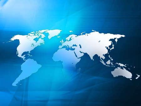 world map technology-style photo