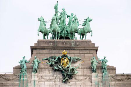 residency: Cityscape in Brussels Europe - landmark of Brussels Stock Photo