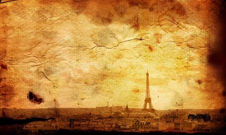 teknik: old-fashioned Eiffel Tower - paris France
