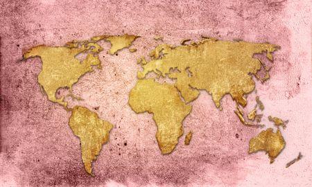 world map vintage artwork Stock Photo - 3984273