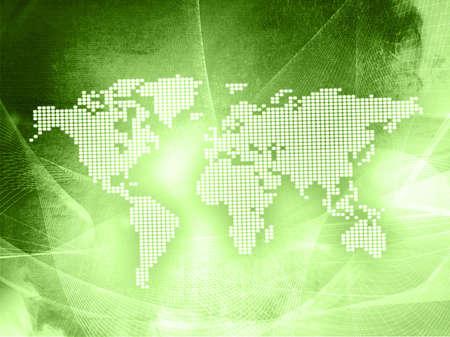 world map technology style Stock Photo - 3982332