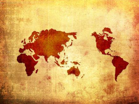 world map vintage artwork Stock Photo - 3982344