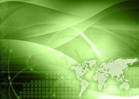 world map technology style Stock Photo - 3982326