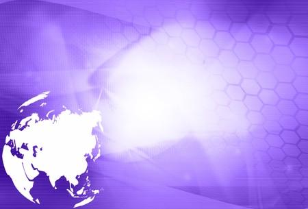 Asia map technology-style artwork photo