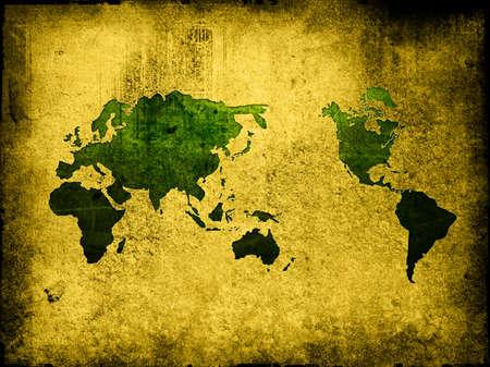 world map vintage artwork Stock Photo - 4407950