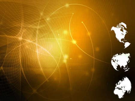world map technology style Stock Photo - 4492797