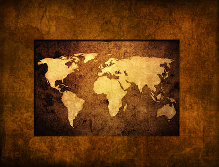 world map vintage artwork Stock Photo - 4492820