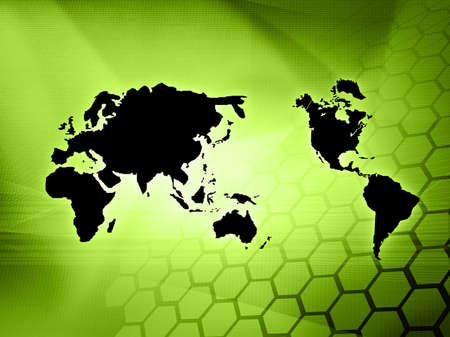 world map technology style Stock Photo - 4492794