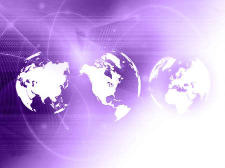 world map technology style Stock Photo - 4548335