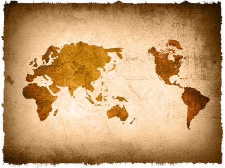 world map vintage artwork Stock Photo - 4548389