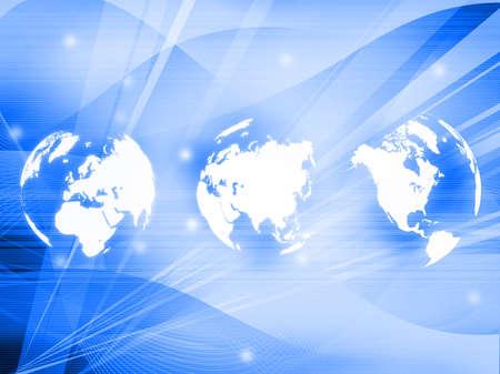 world map technology style Stock Photo - 4548345