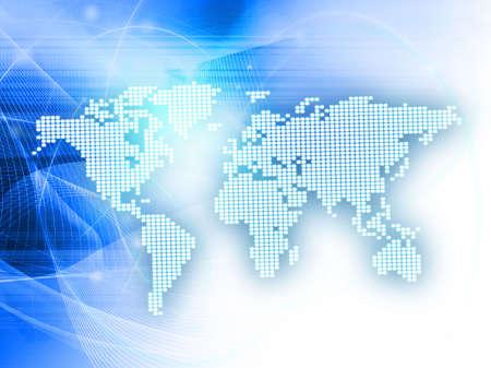 world map technology style Stock Photo - 4642786