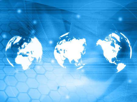 world map technology style Stock Photo - 4642775