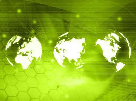 world map technology style Stock Photo - 4717907
