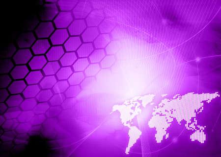 world map technology style Stock Photo - 4717895