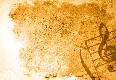 feuille froiss�e: musique grunge backgrounds - parfait avec l'espace pour le texte ou l'image
