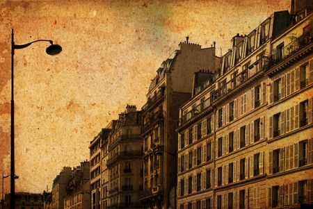 worn structure: old-fashioned paris france Stock Photo