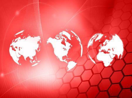 world map technology-style Stock Photo - 4904030