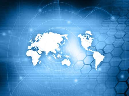 world map technology style Stock Photo - 4958925