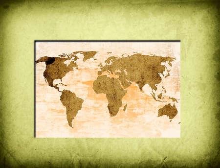 world map vintage artwork Stock Photo - 5009559