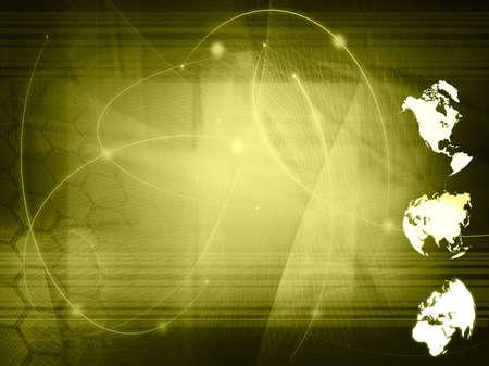 world map technology style Stock Photo - 5035858