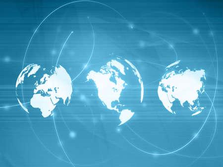 world map technology-style Stock Photo - 5164318